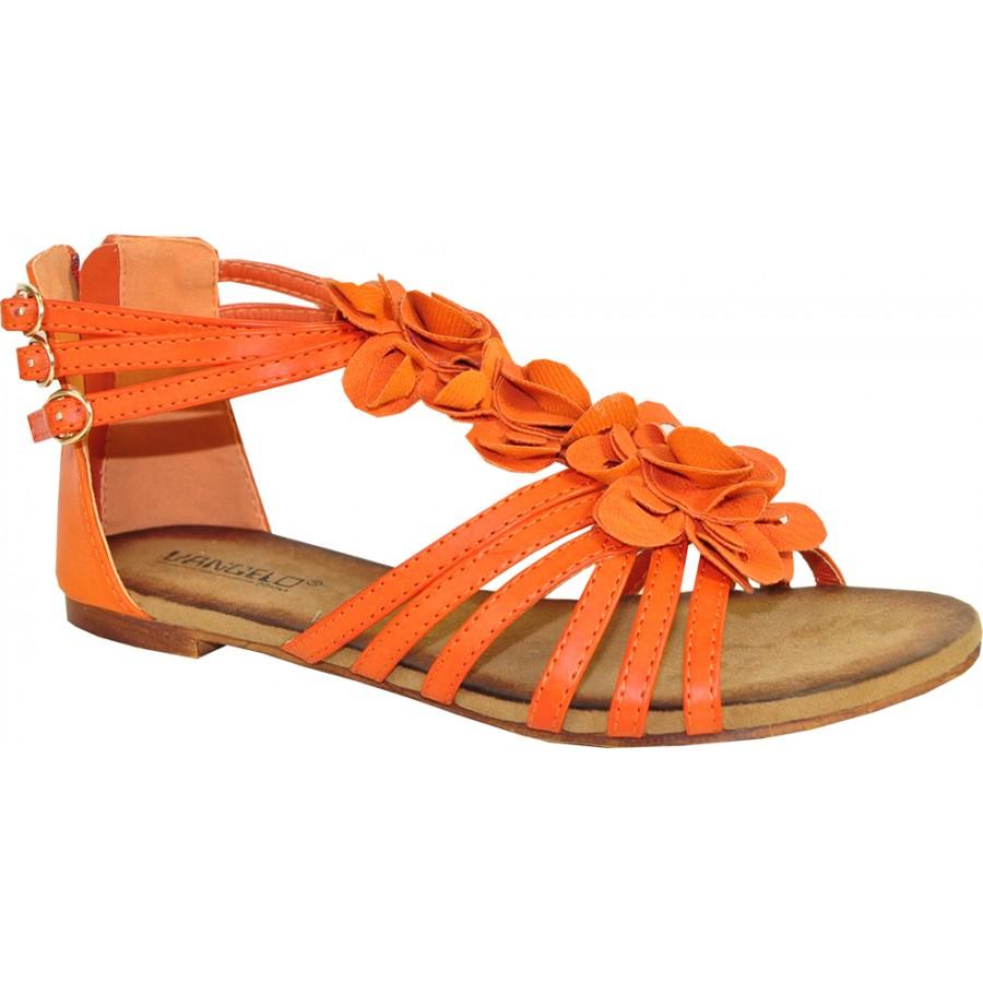 Orange Flat Shoes Fashion