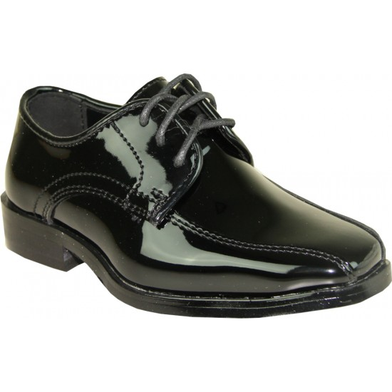 TUX-5-KID PATENT - boys tuxedo lace-up dress shoes for sale